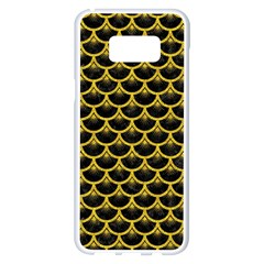 Scales3 Black Marble & Yellow Denim (r) Samsung Galaxy S8 Plus White Seamless Case by trendistuff