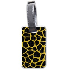 Skin1 Black Marble & Yellow Denim Luggage Tags (one Side)  by trendistuff