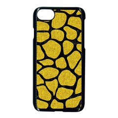 Skin1 Black Marble & Yellow Denim (r) Apple Iphone 8 Seamless Case (black) by trendistuff