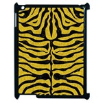 SKIN2 BLACK MARBLE & YELLOW DENIM Apple iPad 2 Case (Black) Front