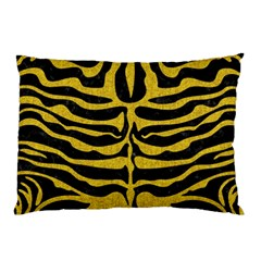 Skin2 Black Marble & Yellow Denim (r) Pillow Case (two Sides)