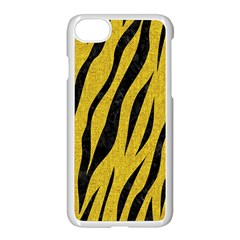 Skin3 Black Marble & Yellow Denim Apple Iphone 7 Seamless Case (white) by trendistuff