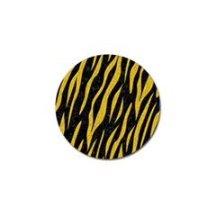 Skin3 Black Marble & Yellow Denim (r) Golf Ball Marker by trendistuff