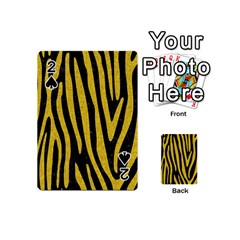 Skin4 Black Marble & Yellow Denim Playing Cards 54 (mini)  by trendistuff