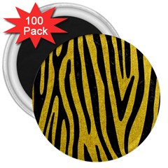 Skin4 Black Marble & Yellow Denim (r) 3  Magnets (100 Pack) by trendistuff