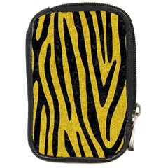 Skin4 Black Marble & Yellow Denim (r) Compact Camera Cases by trendistuff