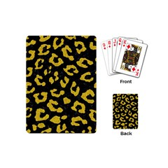 Skin5 Black Marble & Yellow Denim Playing Cards (mini)  by trendistuff