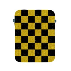 Square1 Black Marble & Yellow Denim Apple Ipad 2/3/4 Protective Soft Cases by trendistuff