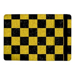 Square1 Black Marble & Yellow Denim Samsung Galaxy Tab Pro 10 1  Flip Case by trendistuff