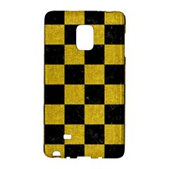 Square1 Black Marble & Yellow Denim Galaxy Note Edge by trendistuff