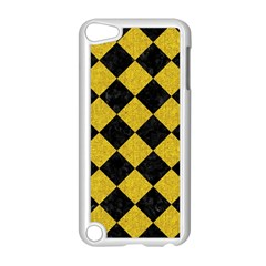 Square2 Black Marble & Yellow Denim Apple Ipod Touch 5 Case (white) by trendistuff