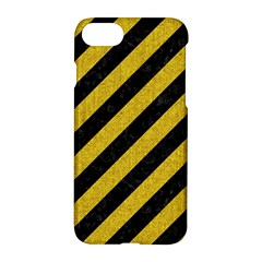 Stripes3 Black Marble & Yellow Denim (r) Apple Iphone 8 Hardshell Case
