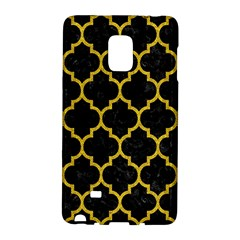 Tile1 Black Marble & Yellow Denim (r) Galaxy Note Edge by trendistuff