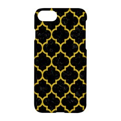 Tile1 Black Marble & Yellow Denim (r) Apple Iphone 8 Hardshell Case by trendistuff