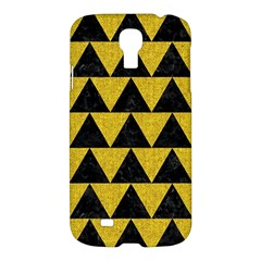 Triangle2 Black Marble & Yellow Denim Samsung Galaxy S4 I9500/i9505 Hardshell Case by trendistuff