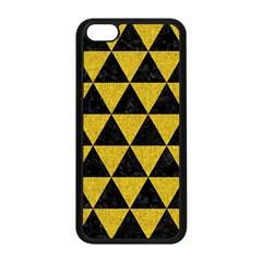 Triangle3 Black Marble & Yellow Denim Apple Iphone 5c Seamless Case (black) by trendistuff