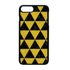 Triangle3 Black Marble & Yellow Denim Apple Iphone 8 Plus Seamless Case (black) by trendistuff