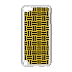 Woven1 Black Marble & Yellow Denim Apple Ipod Touch 5 Case (white) by trendistuff