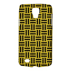 Woven1 Black Marble & Yellow Denim Galaxy S4 Active by trendistuff