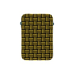 Woven1 Black Marble & Yellow Denim (r) Apple Ipad Mini Protective Soft Cases by trendistuff