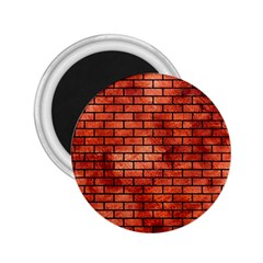 Brick1 Black Marble & Copper Paint 2 25  Magnets by trendistuff