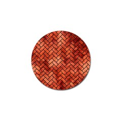 Brick2 Black Marble & Copper Paint Golf Ball Marker by trendistuff
