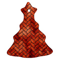 Brick2 Black Marble & Copper Paint Ornament (christmas Tree)