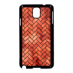 Brick2 Black Marble & Copper Paint Samsung Galaxy Note 3 Neo Hardshell Case (black) by trendistuff