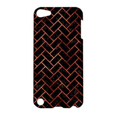 Brick2 Black Marble & Copper Paint (r) Apple Ipod Touch 5 Hardshell Case by trendistuff