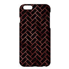 Brick2 Black Marble & Copper Paint (r) Apple Iphone 6 Plus/6s Plus Hardshell Case by trendistuff