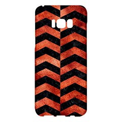 Chevron2 Black Marble & Copper Paint Samsung Galaxy S8 Plus Hardshell Case  by trendistuff