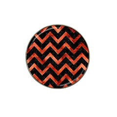 Chevron9 Black Marble & Copper Paint (r) Hat Clip Ball Marker (10 Pack) by trendistuff