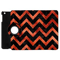 Chevron9 Black Marble & Copper Paint (r) Apple Ipad Mini Flip 360 Case by trendistuff