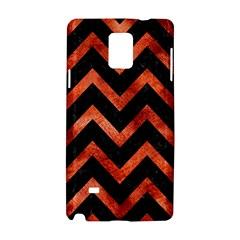 Chevron9 Black Marble & Copper Paint (r) Samsung Galaxy Note 4 Hardshell Case by trendistuff