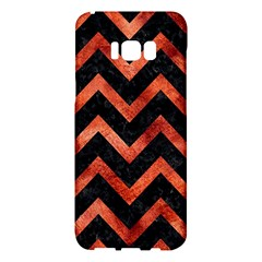 Chevron9 Black Marble & Copper Paint (r) Samsung Galaxy S8 Plus Hardshell Case  by trendistuff