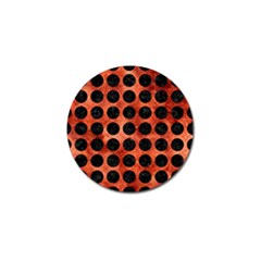 Circles1 Black Marble & Copper Paint Golf Ball Marker (10 Pack) by trendistuff