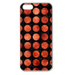 Circles1 Black Marble & Copper Paint (r) Apple Seamless Iphone 5 Case (clear) by trendistuff