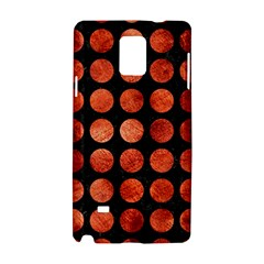 Circles1 Black Marble & Copper Paint (r) Samsung Galaxy Note 4 Hardshell Case by trendistuff