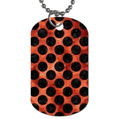 Circles2 Black Marble & Copper Paint Dog Tag (two Sides) by trendistuff