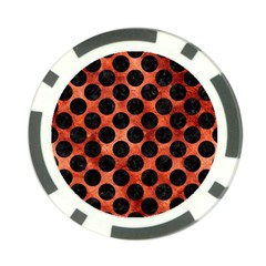 Circles2 Black Marble & Copper Paint Poker Chip Card Guard (10 Pack) by trendistuff
