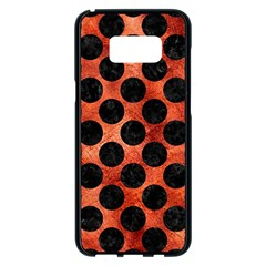 Circles2 Black Marble & Copper Paint Samsung Galaxy S8 Plus Black Seamless Case by trendistuff