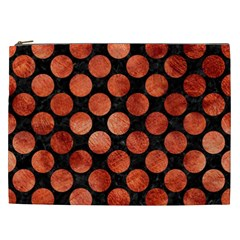 Circles2 Black Marble & Copper Paint (r) Cosmetic Bag (xxl)  by trendistuff