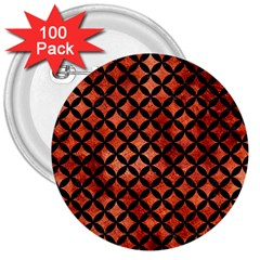 Circles3 Black Marble & Copper Paint 3  Buttons (100 Pack)  by trendistuff