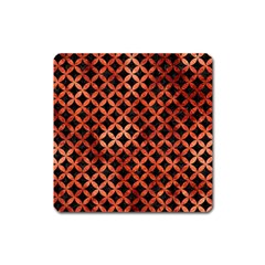 Circles3 Black Marble & Copper Paint (r) Square Magnet by trendistuff