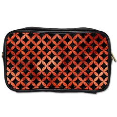 Circles3 Black Marble & Copper Paint (r) Toiletries Bags by trendistuff