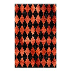 Diamond1 Black Marble & Copper Paint Shower Curtain 48  X 72  (small)  by trendistuff