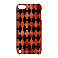 Diamond1 Black Marble & Copper Paint Apple Ipod Touch 5 Hardshell Case With Stand by trendistuff