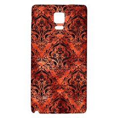 Damask1 Black Marble & Copper Paint Galaxy Note 4 Back Case by trendistuff