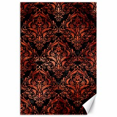 Damask1 Black Marble & Copper Paint (r) Canvas 20  X 30   by trendistuff