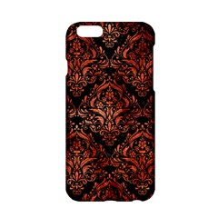 Damask1 Black Marble & Copper Paint (r) Apple Iphone 6/6s Hardshell Case